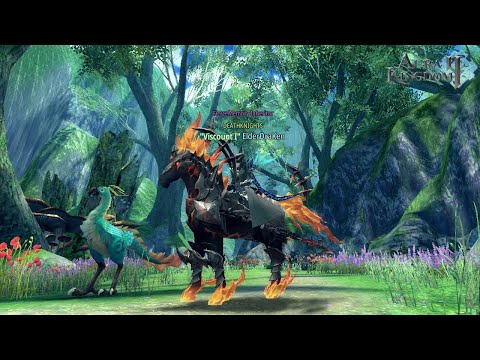 Aura Kingdom 2  Shadow Stallion/Blazemane Mount Showcase  (Becoming A DeathRider)