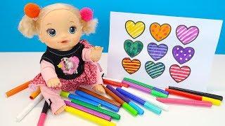 ВОЛШЕБНЫЕ МАРКЕРЫ Рисуем Сердечки Куклы Пупсики Играем #Игрушки Какмама 108мама тв