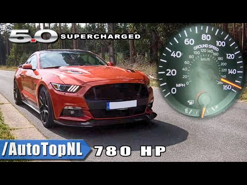 FORD MUSTANG GT SUPERCHARGED 100-200km/h & INSANE SOUND by AutoTopNL