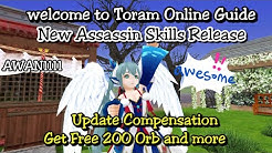Toram Online - Update Reward free 200 Orb and Test Assassin