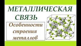Металлическая связь. Типы химической связи.