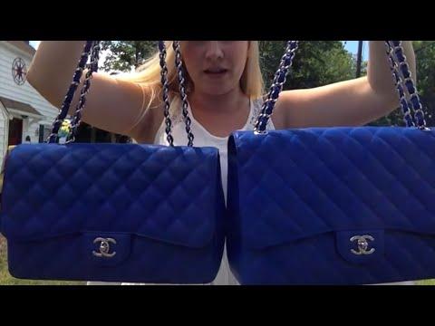83171d5fb667 Opulent Habits | Chanel Bleu Roi Caviar Jumbo and Maxi: Comparison ...