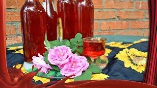 Розовый сироп /// Сироп из лепестков чайной розы.