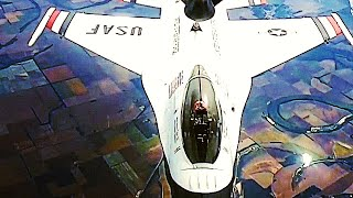 New footage of LEGENDARY USAF THUNDERBIRDS being REFUELED in MID-AIR!