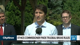Trudeau violated Conflict of Interest Act: report
