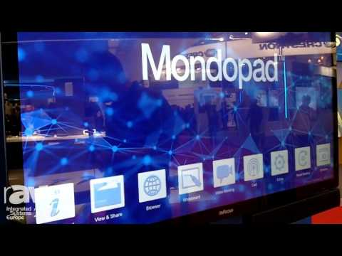 ISE 2017: InFocus Presents New Mondopad Ultra Collaboration Board with a 4K Multitouch Display
