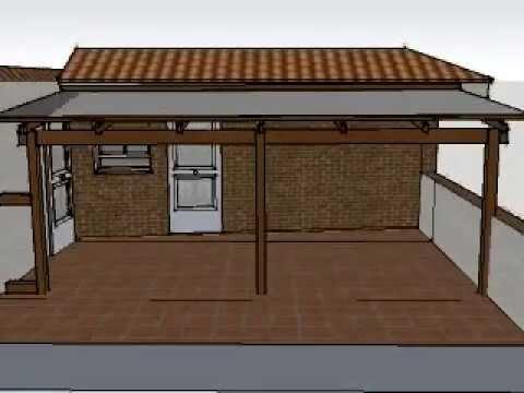 Dise o de porche de madera en terraza de barcelona youtube for Porche diseno