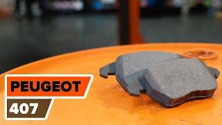 Ako vymeniť predné brzdové platničky na PEUGEOT 407 [Návod]