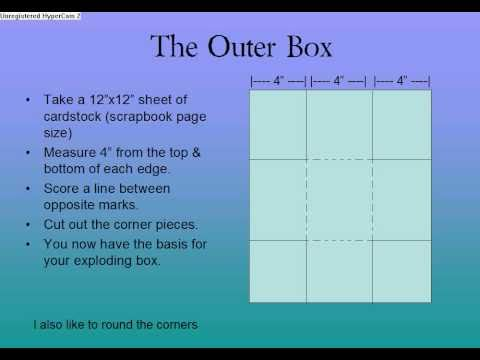 Exploding Box Card Instructions Youtube