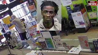 Robber drops to his knees to pray after getting locked in Houston store