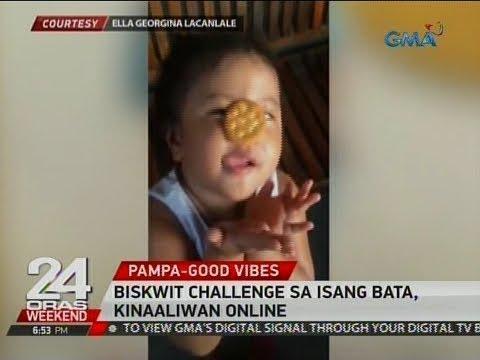 24 Oras: Biskwit challenge sa isang bata, kinaaaliwan online