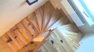 видео Лестницы из дуба: установка изделия из массива своими руками