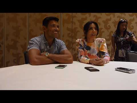 SDCC 2018 Riverdale: Marisol Nichols Hermione Lodge and Mark Consuelos Hiram Lodge