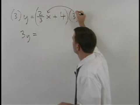 standard form of a line mathhelp com algebra help