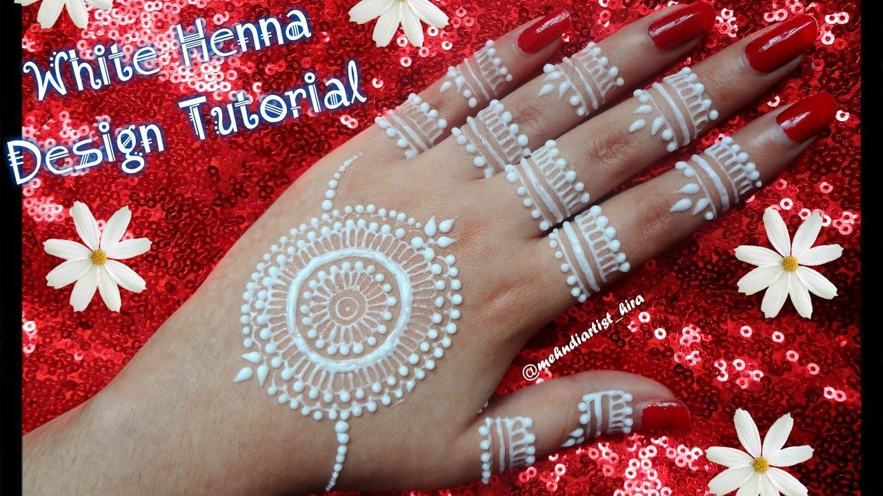 Diy Mehndi Designs : Diy henna designs how to apply easy simple white mehndi