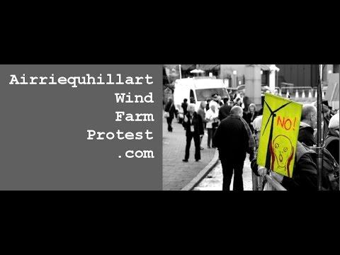 Airriequhillart Wind Farm Protest