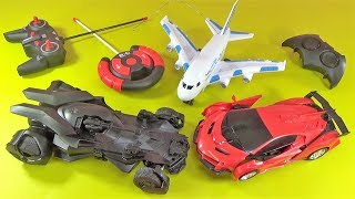 UNBOXING BEST TOYS: Remote control Airbus plane batman RC car robot toy gift surprise for kids