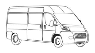 How to Draw Van for Kids Learn Drawing a Van Easy and Step by Step for Kids