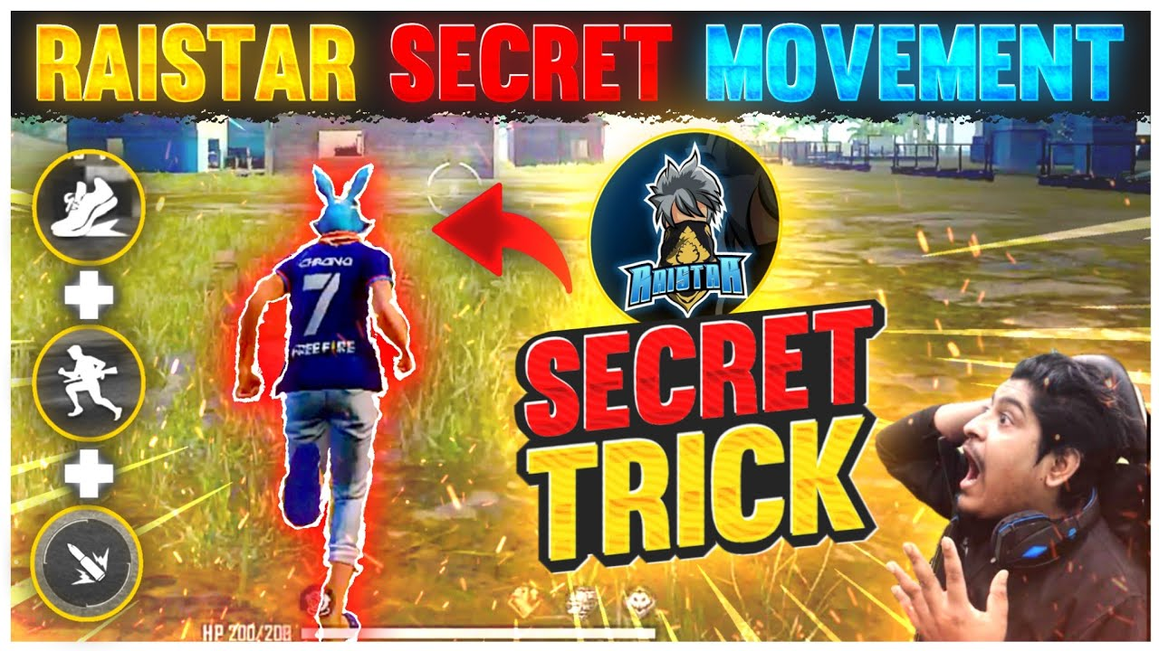 Raistar Secret Movement Speed Trick 🔥👽| How To Increase Movement Speed |-Garena Free Fire