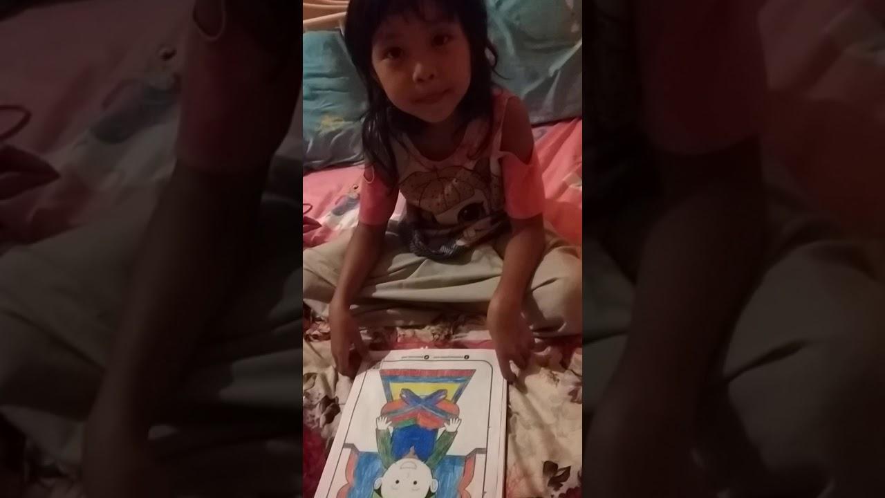 pelajaran seni mewarnai gambar anak mengaji