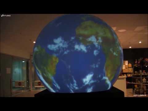V Studio Interactive Spherical Displayكرة (قبّة) العرض التفاعلية
