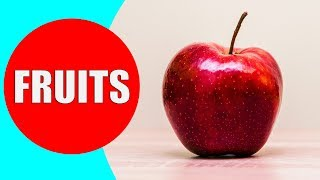 FRUITS for Kids to Learn - Fruit Names for Children, Toddlers, Preschoolers in English
