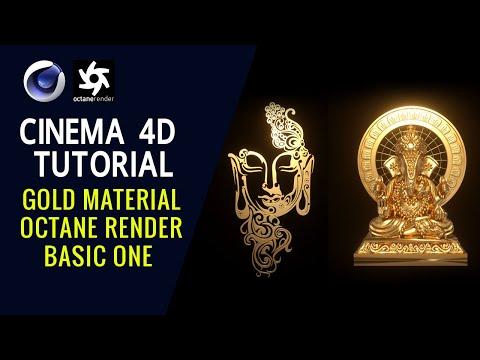 Gold Material Octane Render Basic One - Cinema 4D Tutorial
