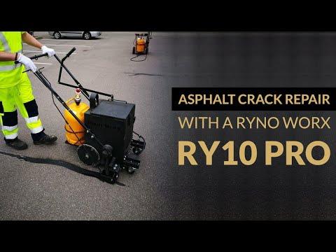 Asphalt Crack Repair With A RYNO WORX RY10 PRO