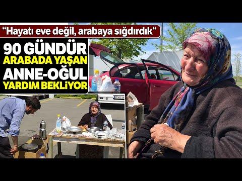 82 Yaşındaki Engelli Kadın Ve Oğlu 90 Gündür Arabada Yaşıyor