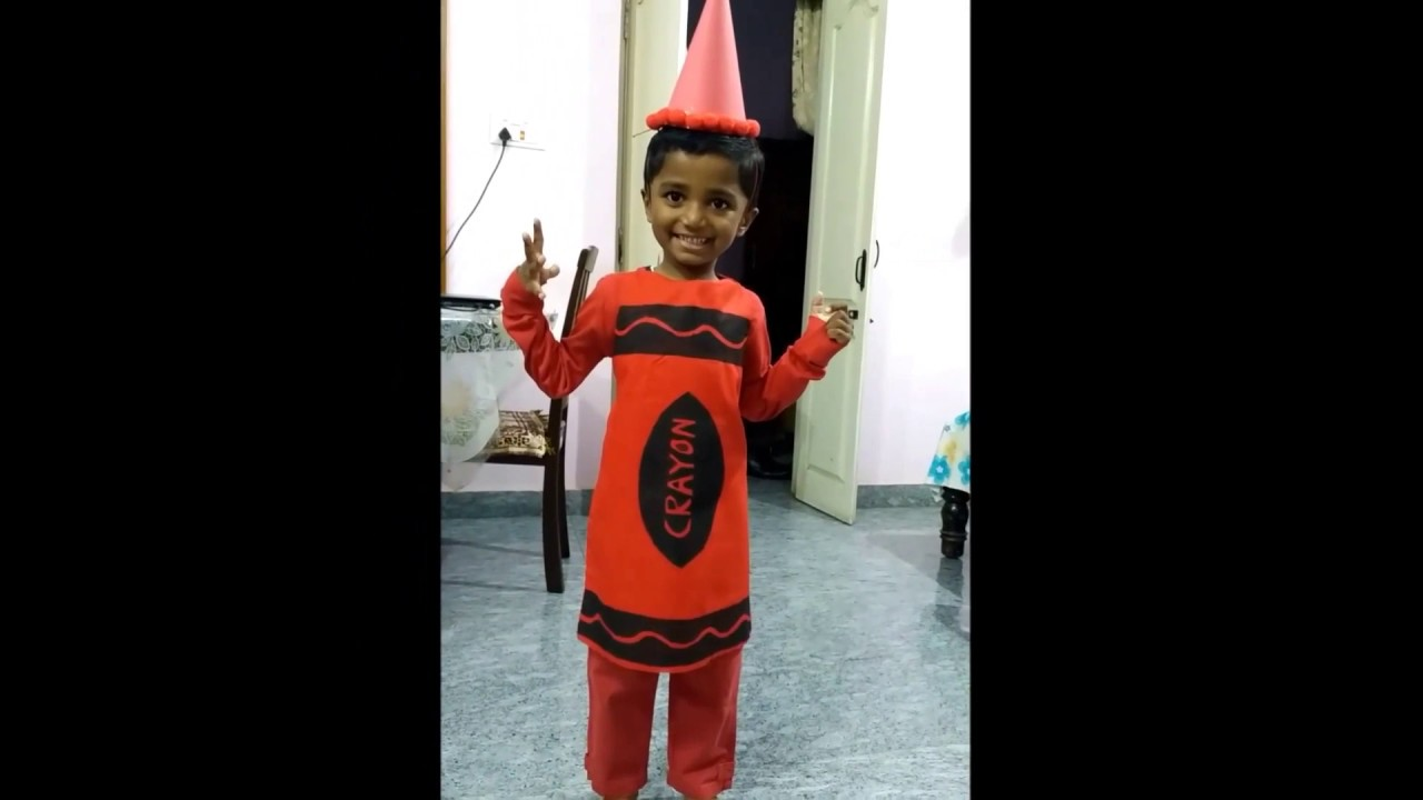 Crayon costume Fancy Dress  sc 1 st  YouTube & Crayon costume Fancy Dress - YouTube