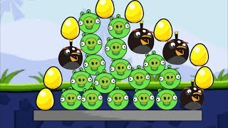 Angry Birds Bomb 1 - SKILL GAME RESCUE GOLDEN EGG BY BLASTING ALL PIGGIES!