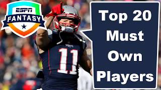 Top Must Own Players | 2019 Fantasy Football