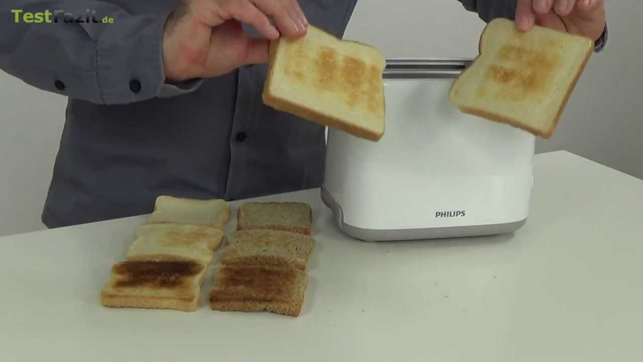 de6eae9a8 Philips HD 2595 Toaster Test - YouTube