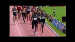 1500 METROS. BERNARD LAGAT 3:34.63  N. YORK. DIAMOND LEAGUE 2012