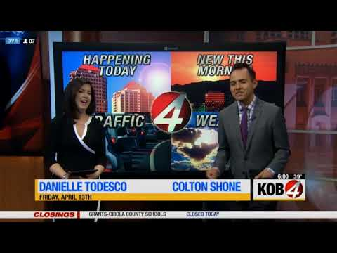 KOB Eyewitness News 4 Today open (4-13-18)