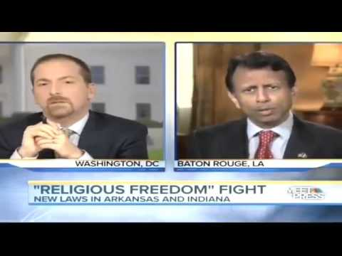 Bobby Jindal Meet the Press Religious Freedom VS Gay Rights