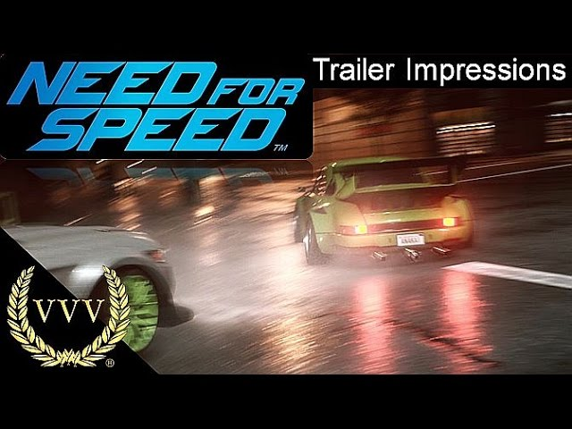 Need For Speed Trailer Impressions