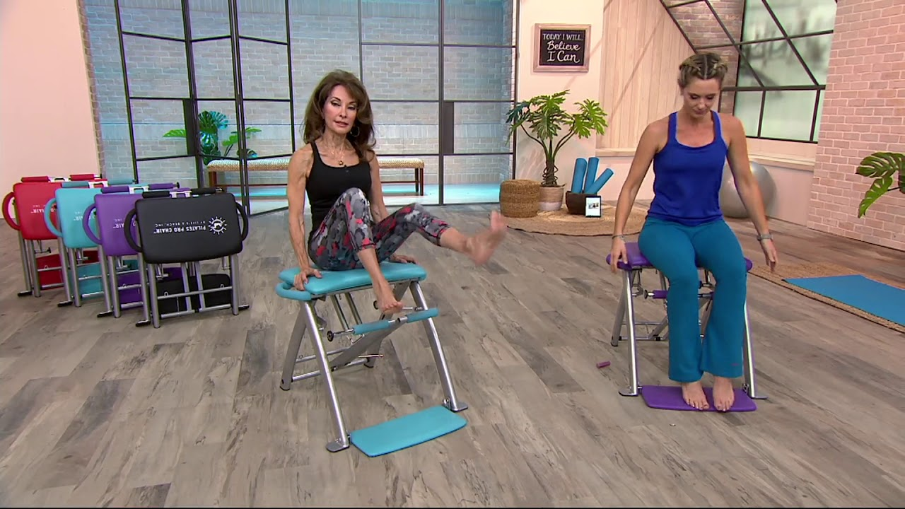 Pilates Pro Chair With 4 Dvds By Lifes A Beach On Qvc Youtube