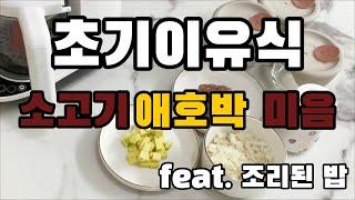 베이비 브레짜 이유식 마스터기 - 소고기애호박 미음 만…