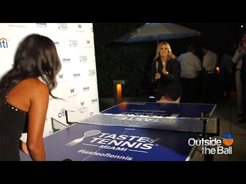 Genie Bouchard and Heidi El Tabakh Show Off Their Ping Pong Skills