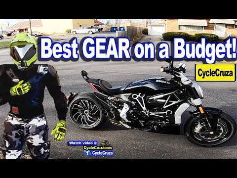 Best Motorcycle GEAR on a BUDGET 2018 | MotoVlog