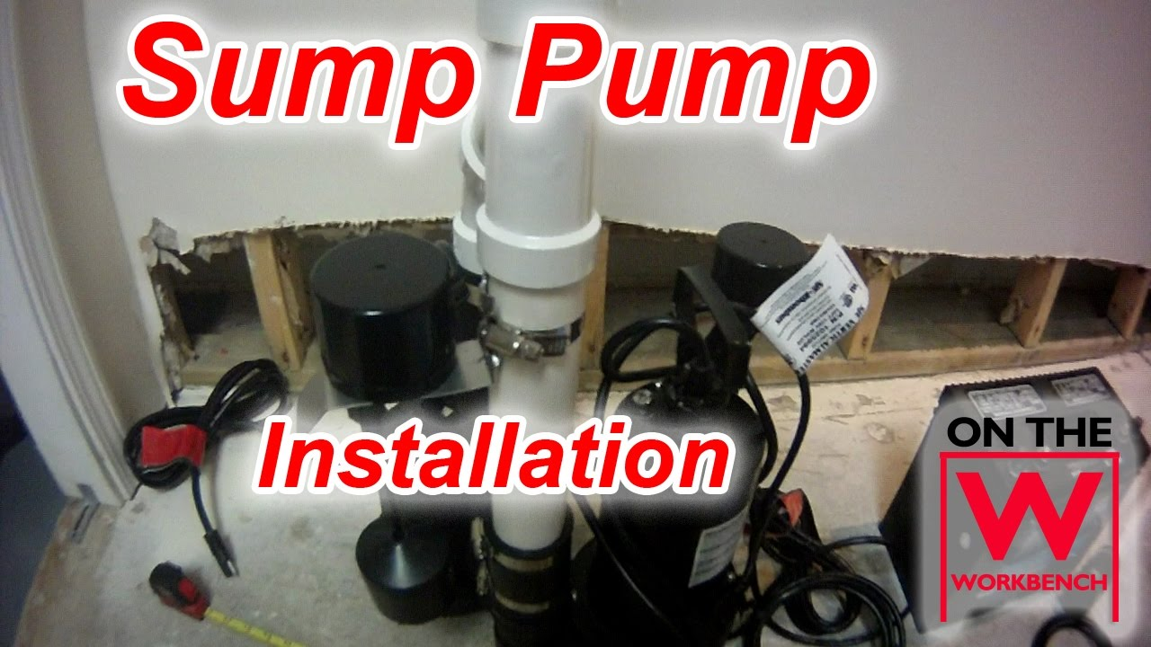 battery backup sump pump installation [ 1280 x 720 Pixel ]