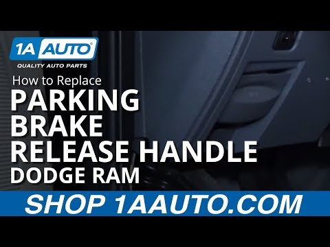 How to Replace Parking Brake Release Handle 06-08 Dodge Ram