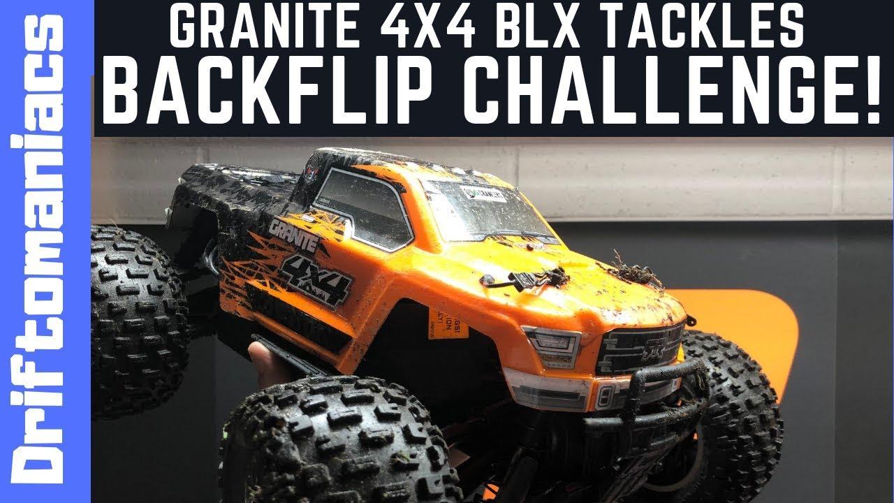Arrma Granite 4x4 BLX Tackles Driftomaniacs Backflip Challenge