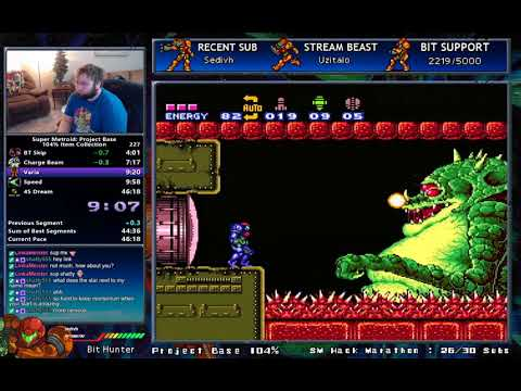 Super Metroid: Project Base 104% in 46:03 (0:33) [WR]