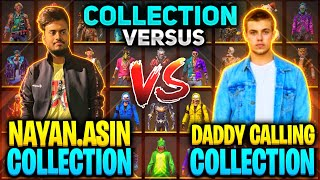 NayanAsin Vs DaddyCalling 90 Lev Player Collection Versus Highest Lev Player 😱 - Garena Free Fire