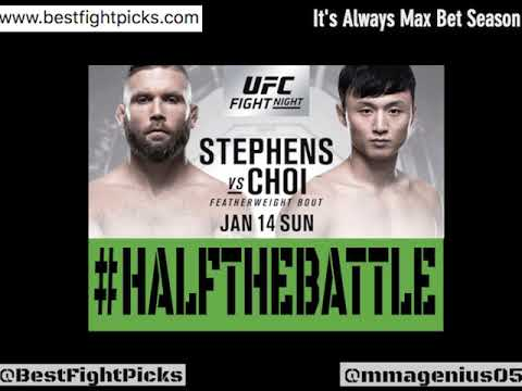 UFC STL: Stephens vs Choi Bets, Picks, Predictions on Half The Battle (UFC St. Louis)