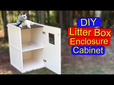 How to Hide Your Cat's Litter Box with a DIY Cabinet