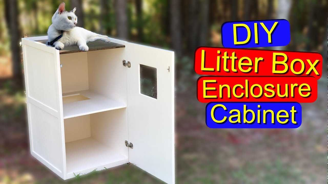 How To Hide Your Cat S Litter Box With A Diy Cabinet