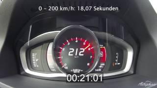 2016 volvo v60 polestar 367 hp acceleration 0 240 kph 0 150 mph autophorie